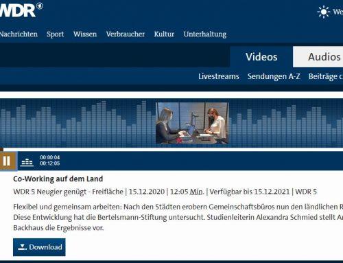 Coworking auf dem Land – WDR 5 berichtet